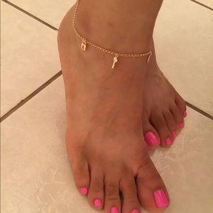 18k gold filled anklet bracelet